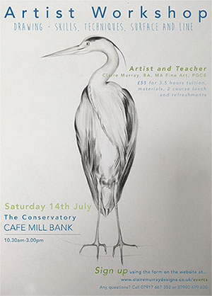 Drawing Workshop at Café Mill Bank